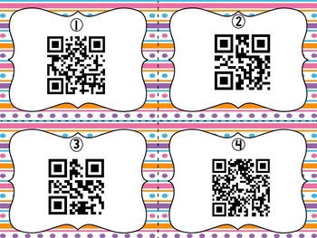 April Encyclopedia Research Task Cards with Self-Checking QR Codes