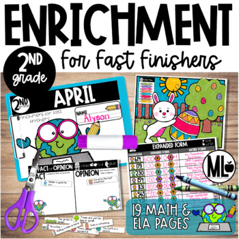 April Enrichment/Early Finishers*SecondGrade*