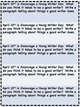 April Everyday Writing Journals Printable