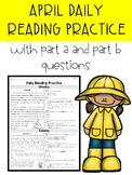 April FSA/PARCC Style Daily Reading Passages