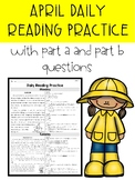 April FSA/PARCC Style Daily Reading Passages