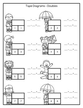 Addition and Subtraction Math Facts Worksheets: April