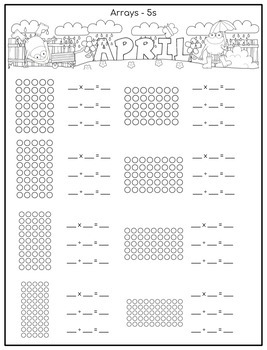 Multiplication and Division Math Facts Worksheets: April