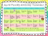 April Family Activity Calendar
