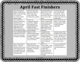 April- Fast Finishers