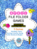 April File Folder Games - FREE - Math & Reading Skills