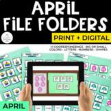 April File Folders Bundle for Special Education | Print + Digital
