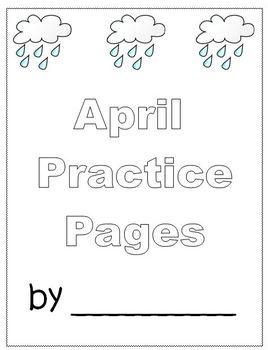 April Finished Work Packet - First Grade