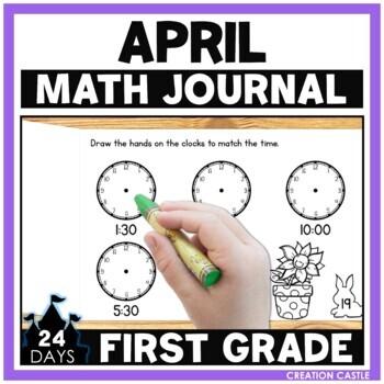 April First Grade Math Journal
