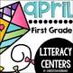 April First Grade Math & Literacy Centers