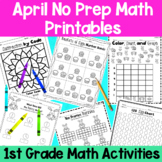 April First Grade No Prep Math Distance Learning Packet
