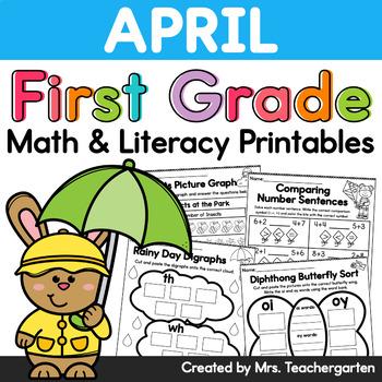 April First Grade Printables