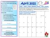 April Fitness Calendar 2018