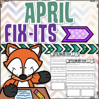 April Fix-It Sentences With Powerpoint