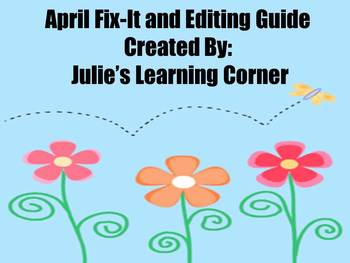 April Fix-It and Editing Guide