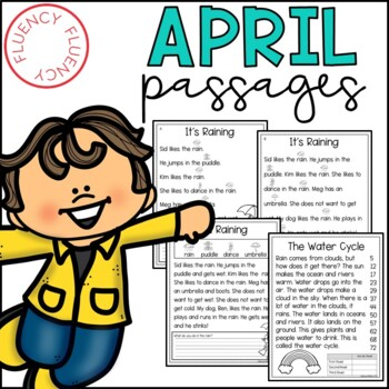 April Fluency Passages (Differentiated)