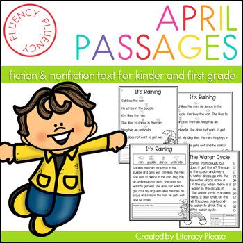 April Fluency Passages (Differentiated)