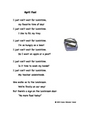 """Fluency, Phonics, and Fun through Poetry # 2 (""""April Fool"""")"""