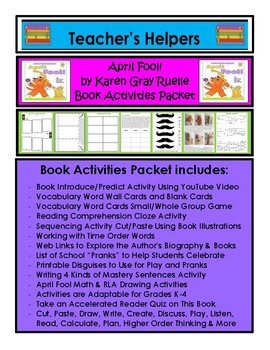 April Fool! Bk by Karen Gray Ruelle Activity Pk 35+Page Rd