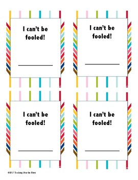 April Fool or Not-A Game for Upper Elementary Students