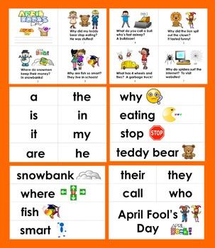 April Fool's Day Mini Book of Jokes + Illustrated Word Wall!