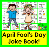 April Fool's Day Mini Book of Jokes + Illustrated Word Wall!