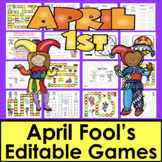 April Fool's Day Activities Sight Word Game Boards EDITABL