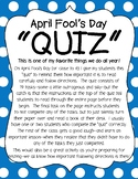 "April Fool's Day Activity - Following Directions ""Quiz"""
