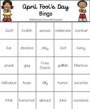 April Fool's Day Bingo Fun