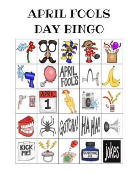 April Fool's Day Bingo Custom Printables