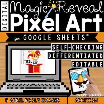 April Fool's Day Digital Pixel Art Magic Reveal ADDITION