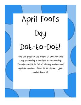 April Fool's Day Dot-to-Dot