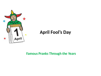 April Fool's Day History POWERPOINT