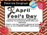 April Fool's Day  INFORMATIONAL TEXT comprehension and questions