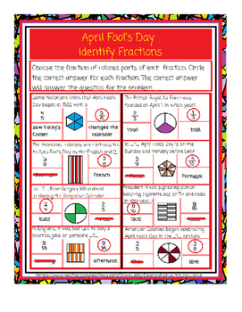 April Fool's Day-Identify Fractions