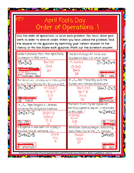 April Fool's Day-Order of Operations 1