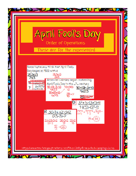 April Fool's Day-Order of Operations