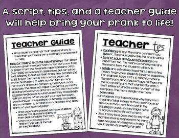 April Fool's Day Prank Scratch and Sniff Paper