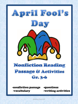 April Fool's Day Reading Comprehension Passage Gr. 3-6