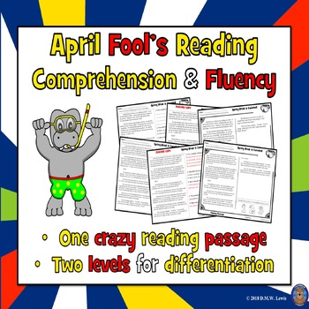 April Fool's Day Reading Comprehension Passage and Questions + Fluency