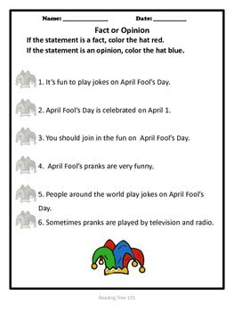 April Fool's Day Reading Passage Grades 2-3