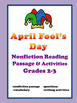 April Fool's Day Reading Passage Grades 2-3