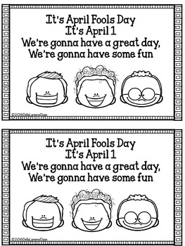 April Fool's Day Rhyming Mini Book