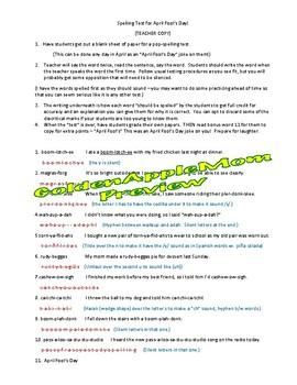 April Fool's Day Spelling Test Fun Jokes Prank