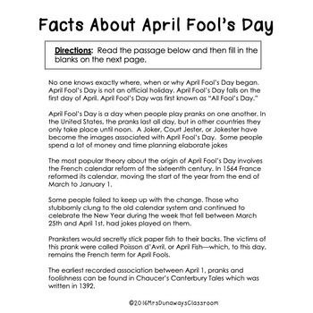 April Fool's Day Student Packet