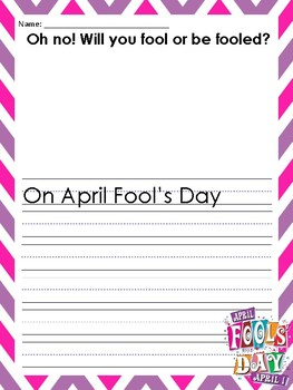 April Fool's Day Writing Prompts