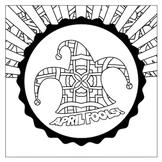 April Fool's Jester Mandala Coloring Page