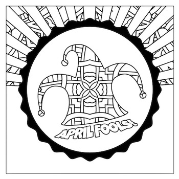 April Fool's Jester Mandala Coloring Page