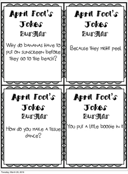 April Fool's Jokes Burglar