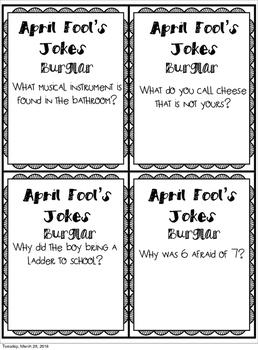 April Fool's Jokes Burglar